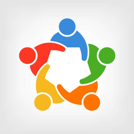 personas ayudando: Grupo de personas, convenci�n Team 5