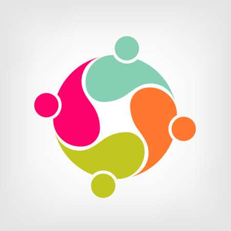 personas ayudando: Grupo de la comunidad de amigos 4