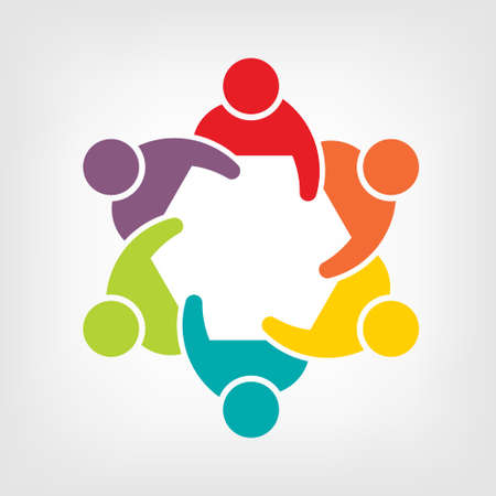 Illustration von Teamwork Konferenz 6 Gruppe von Personen, Standard-Bild - 26129543