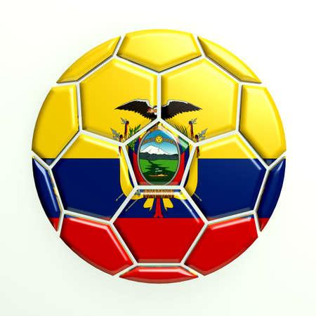 ecuador: Ecuador soccer ball Stock Photo