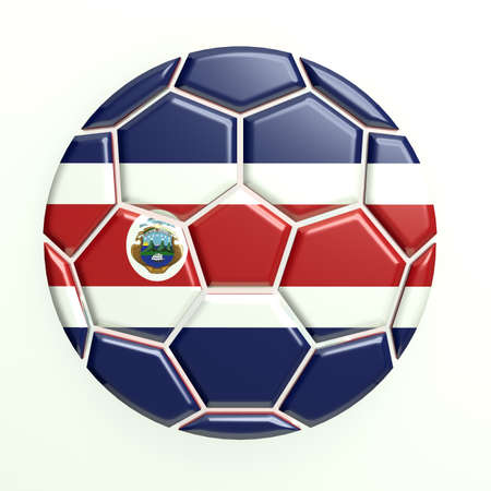 costa rica flag: Costa rica soccer ball Stock Photo