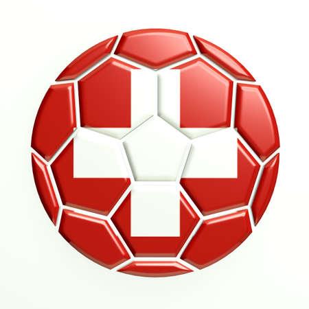 Switzerland soccer ball Stock Photo