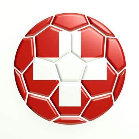 swiss flag: Switzerland soccer ball Stock Photo