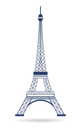 Vector Logo Eiffel tower Фото со стока - 26129622