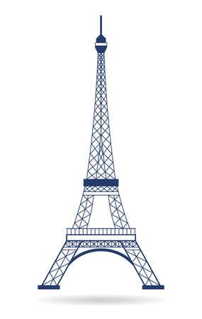 Touring: Vector Logo Wieża Eiffla Ilustracja