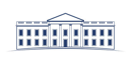 first house: Vector Logo White House Illustration