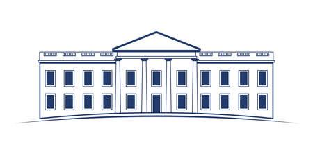Vector Logo White House Stock Illustratie