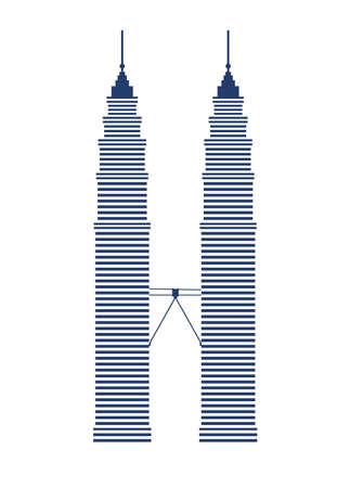 Kuala Lumpur landmark icon