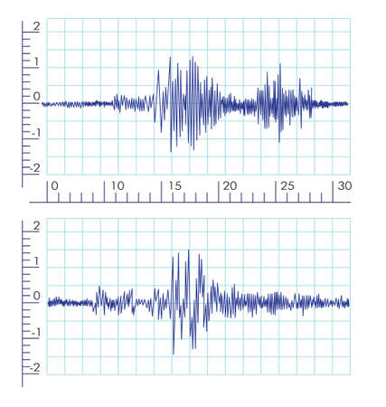 Vector Seismische Wave graphics Stock Illustratie