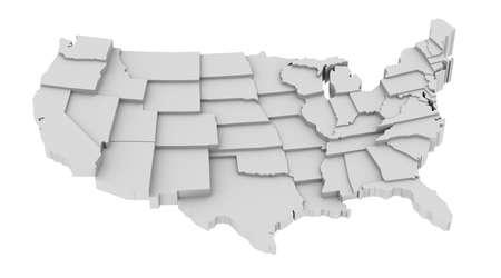 様々 な高レベル抽象化、全体の部品の状態によって米国の州地図データ情報に関連するすべての状態を表示するプラットフォームのレベルのアイデ 写真素材