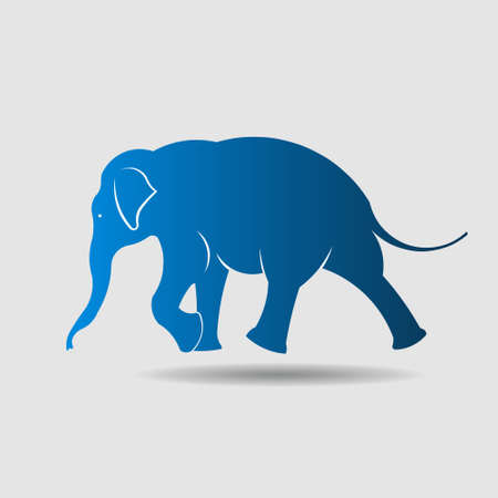 hand movements: Elephant vector icon Walking movement  Illustration