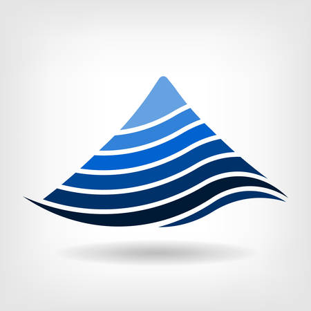 Layering mountain vector icon