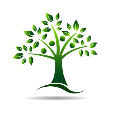 Icono Personas árbol por árbol de familia Foto de archivo - 28023581