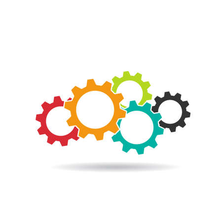 communication concept: Gears  Concept of Teamwork,Cooperation