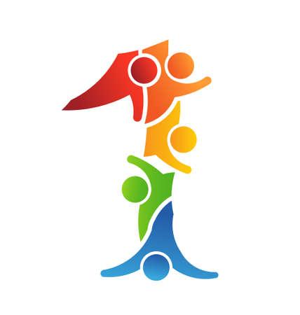 teamwork icon: Number 1 Teamwork icon