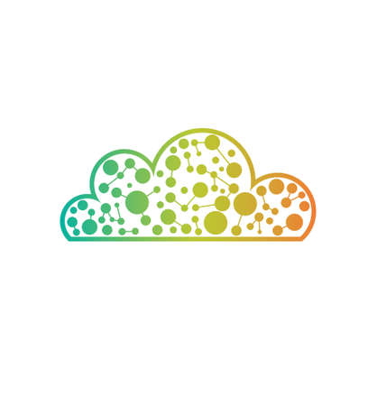 Techno Cloud  Concept of storage cloud , hi tech, network Vector