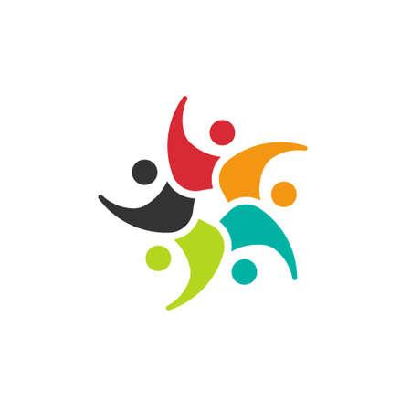 activity icon: Kids circle 5 people image
