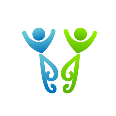 friendly people: Happy friends meeting  Concept of partnership, friendly people, couple life