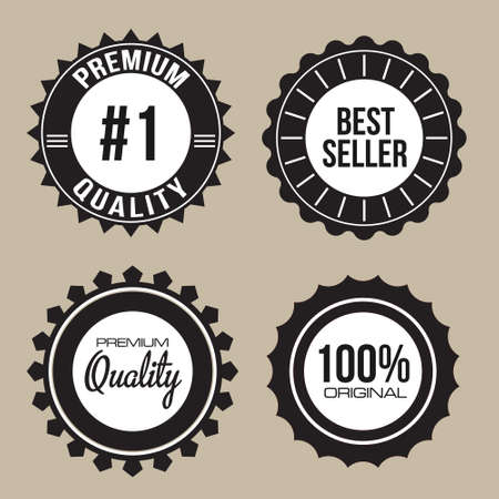 Collection of Premium Quality, 100 , 1,Best Seller unique seal labels with retro vintage styled design Vector