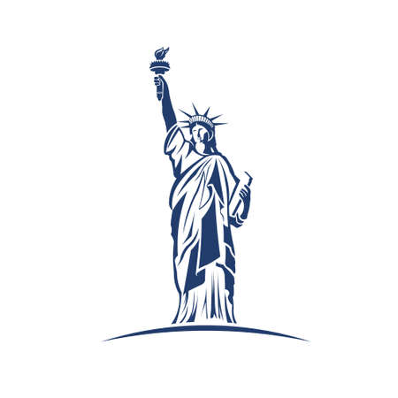 Statue of Liberty image  Concept of freedom, immigration, progress Vector