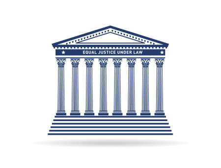 Justice court building image  Capital and columns Vector