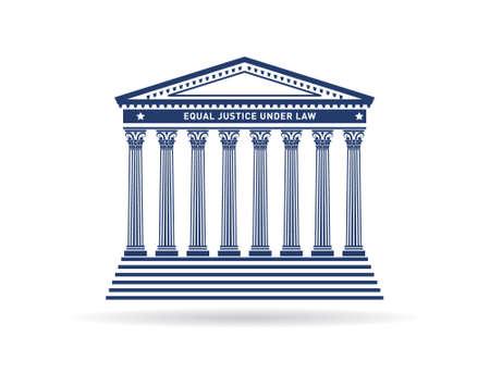 Justitie gerechtsgebouw image Kapitaal en columns Stockfoto - 28429790