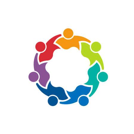 Coéquipiers 7 Concept de l'image du travail d'équipe, groupe d'enfants, d'hommes d'affaires Banque d'images - 28429795