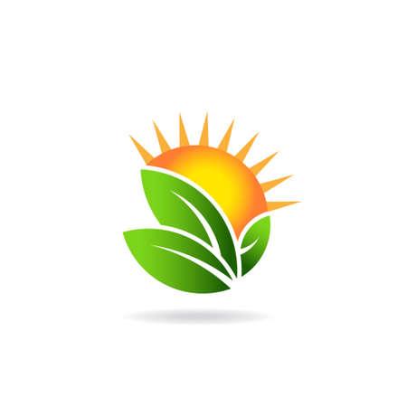 Sunny ecological image logo Иллюстрация