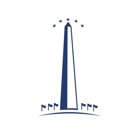 Washington immagine Monumento concetto di commemorazione, DC punto di riferimento, patriottismo Vettoriali
