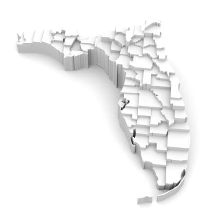 florida state: Florida map by counties in various high levels  Abstraction of parts of a whole