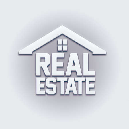 real estate house: Real Estate House Card Sign