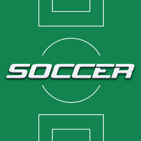 Soccer Field image  Concept of competition,  Reklamní fotografie