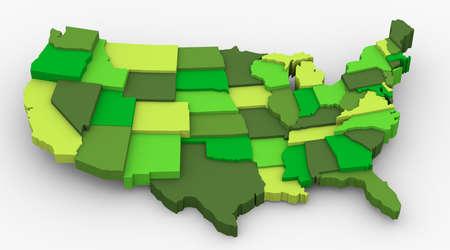 米国グリーン マップ画像きれいな国、天気保全生態学の概念は、地球を救う