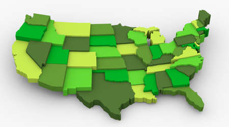 USA green map image  Concept of ecology, weather preservation, clean country, save earth