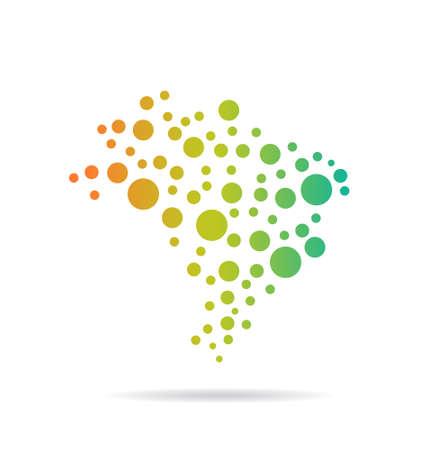 brasil: Brasil Circles Map image