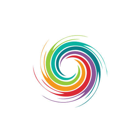 Abstract colorful swirl image  Concept of hurricane, twister, tornado Illustration