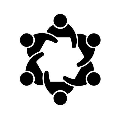 Concept van de leden afbeelding een samenleving of commissie van Stock Illustratie