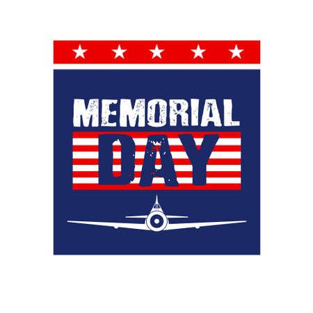 Memorial Day Card image  Vector