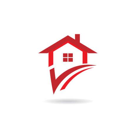 inspeccion: Cheque Casa Concepto de casa seleccionada, opci�n, mi opci�n Vectores