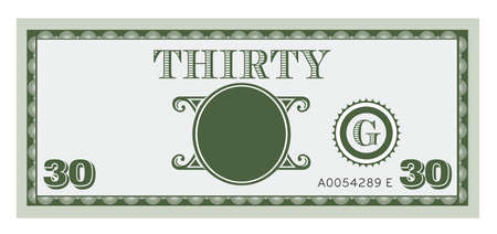 Thirty money bill image  With space to add your text, information and image