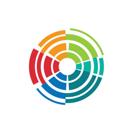abstract aperture: Abstract colorful camera lens image-style 1  Concept for lens technology,shutter, photography target  Vector icon