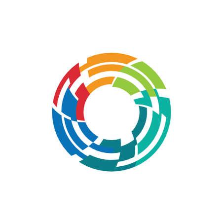 Abstracte kleurrijke cameralens image-stijl 2 Concept voor sluitertijd, belichting, diafragma, fotografie wereld