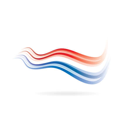 Flag swoosh red and blue image Illustration