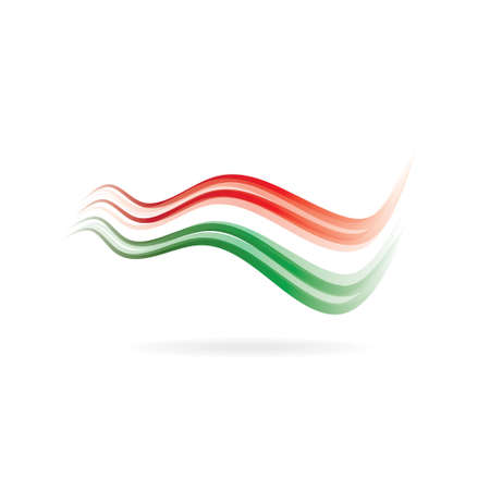 Flag swoosh red white green image  Vector