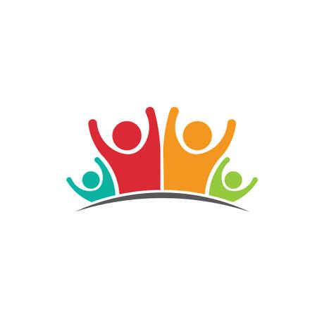 personas saludandose: Imagen Familia de cuatro miembros Concepto de parentesco, la felicidad, la dinast�a