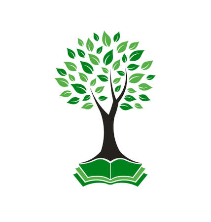 Wijsheid boom beeld van het concept van wijsheid, kracht, magisch, hoop Vector pictogram Stock Illustratie
