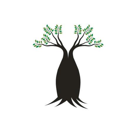 어머니 나무의 Boab 트리 이미지 컨셉, 강력한, 안정, 강한 일러스트