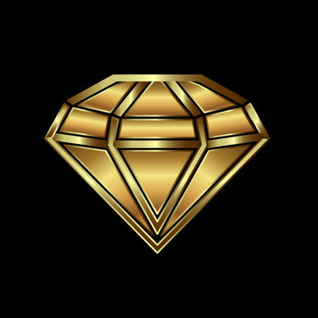 Gold diamond image  Concept of luxury, wealth, power   Vector