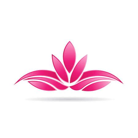 럭셔리 식물 연꽃 이미지 로고 일러스트