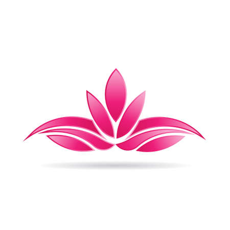 Imagen del logotipo planta Lotus Luxury Foto de archivo - 29232407